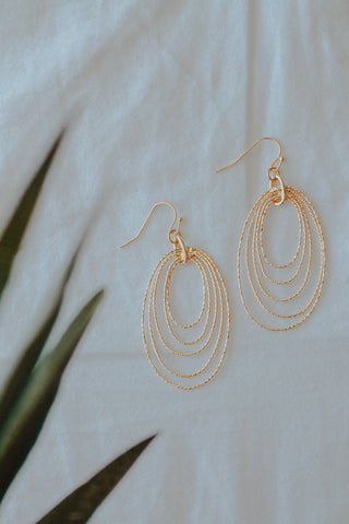 Textured Oval Earrings *Rhodium