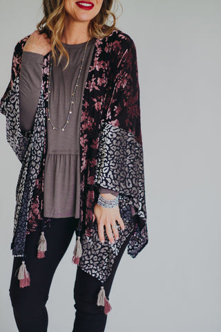 Chelsea Mocha Top with Snake Sleeves
