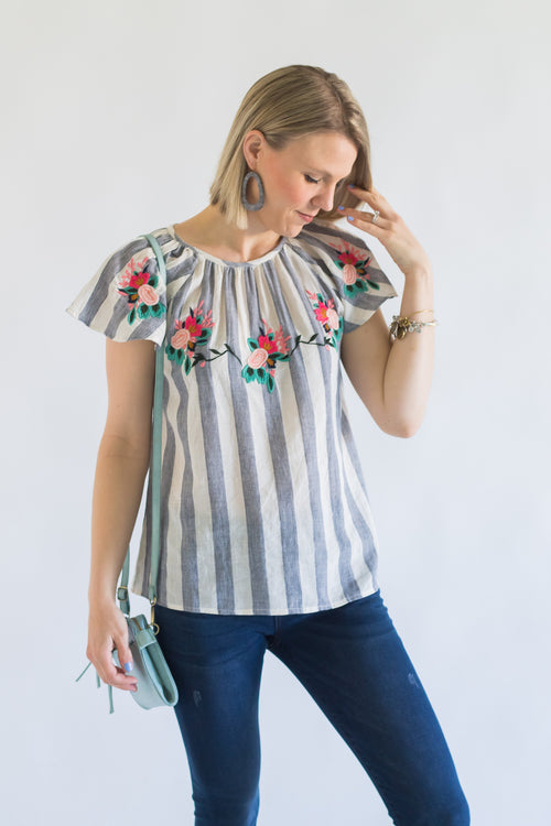 THML Devan Embroidered Top