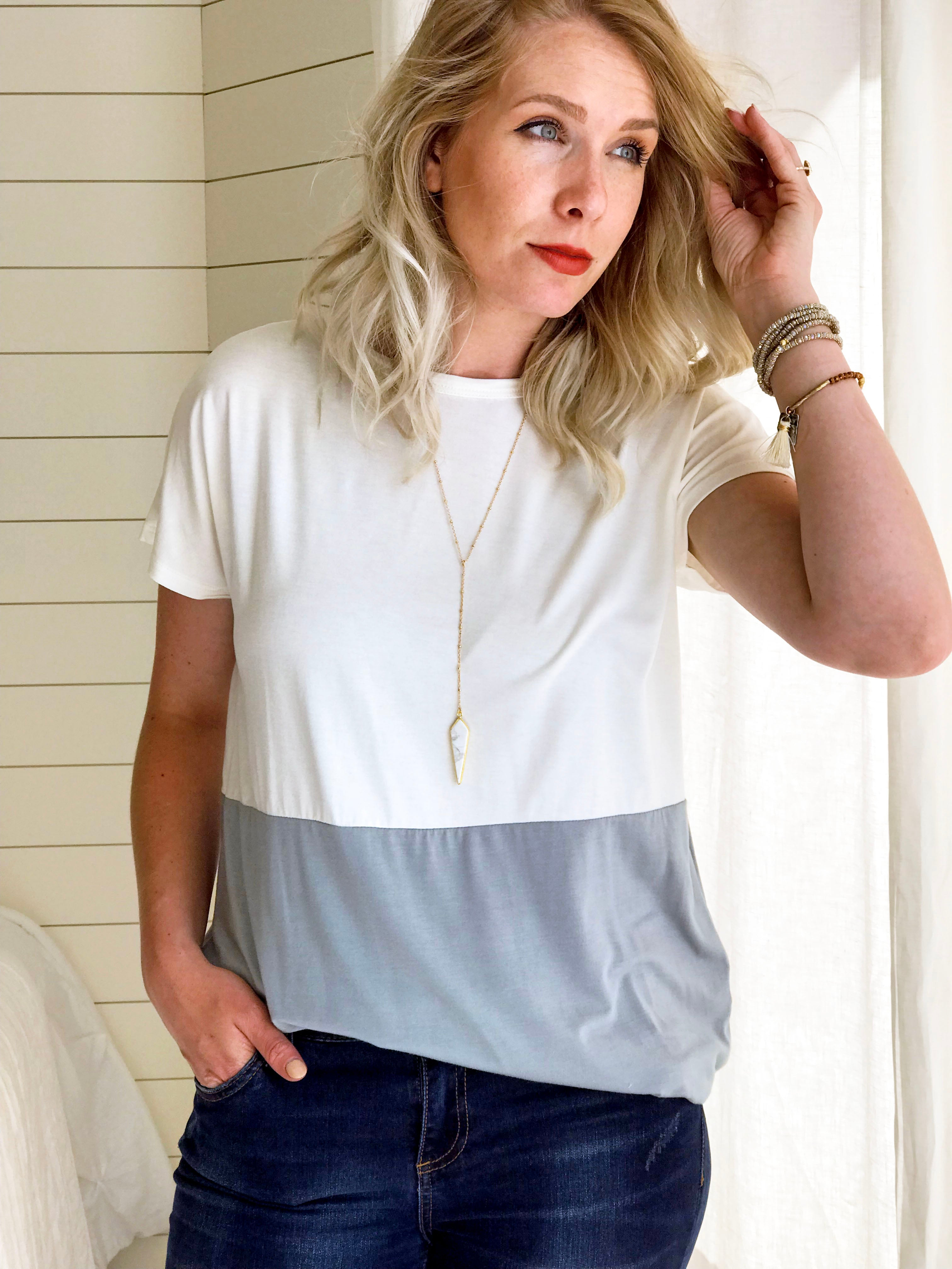 Esther Color Block Top