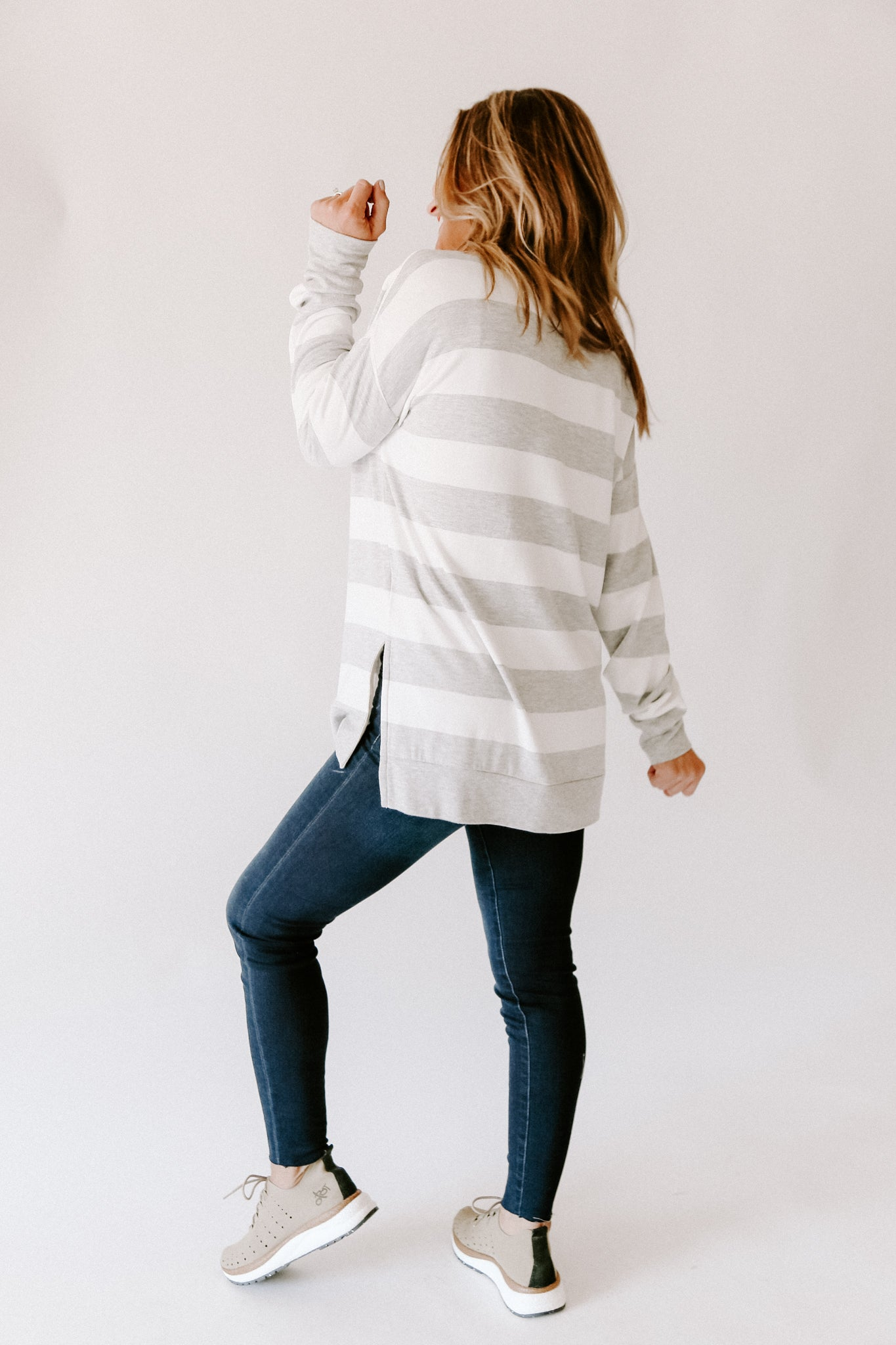 Heather Stripe Top