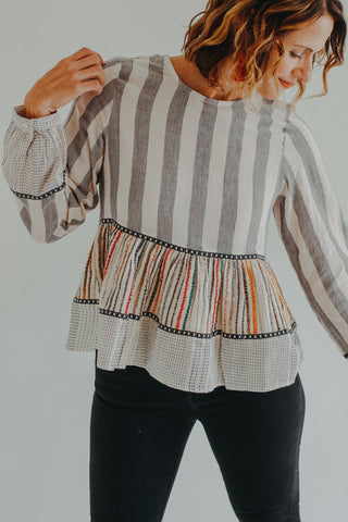Bella Bell Sleeve Chiffon Top