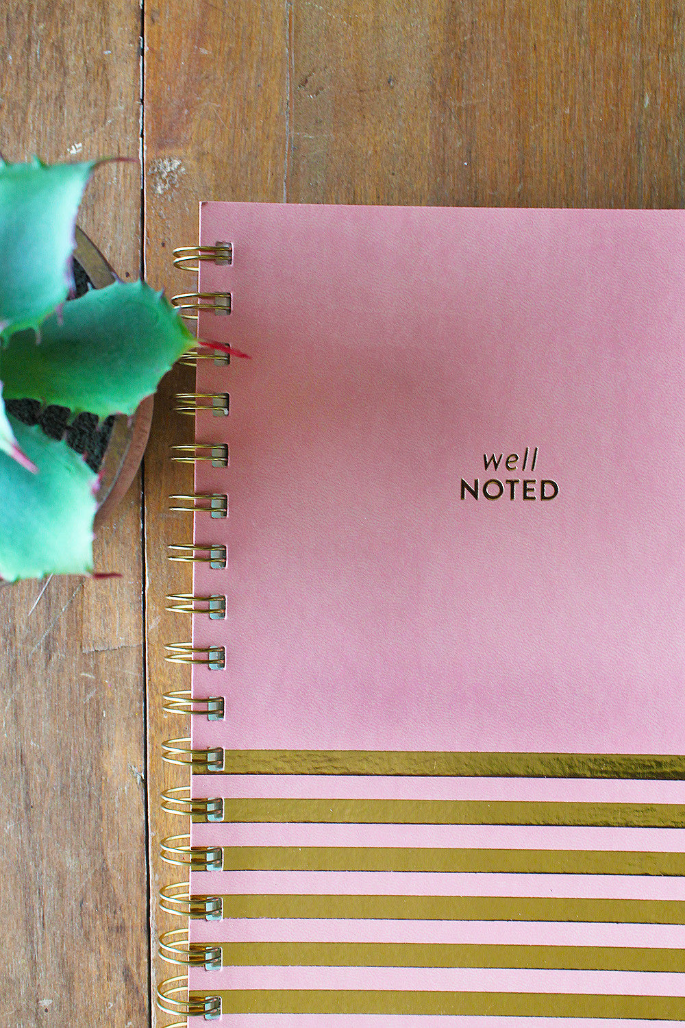 Well Noted Faux Leather Notebook