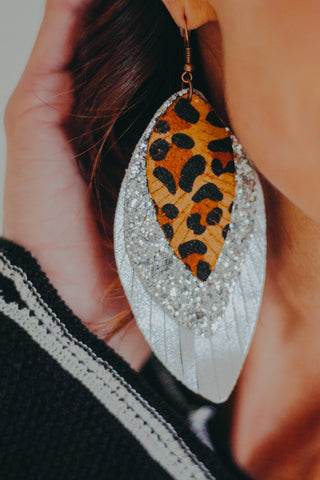 Maude Feathered Earring