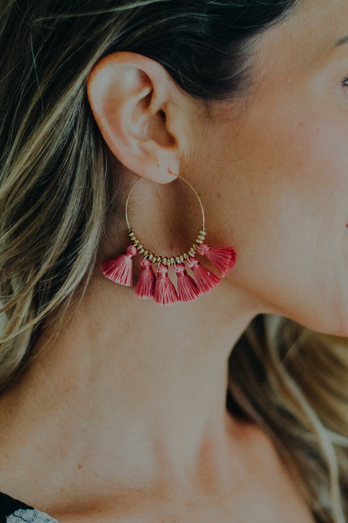 Empire Earring *Mauve Pink