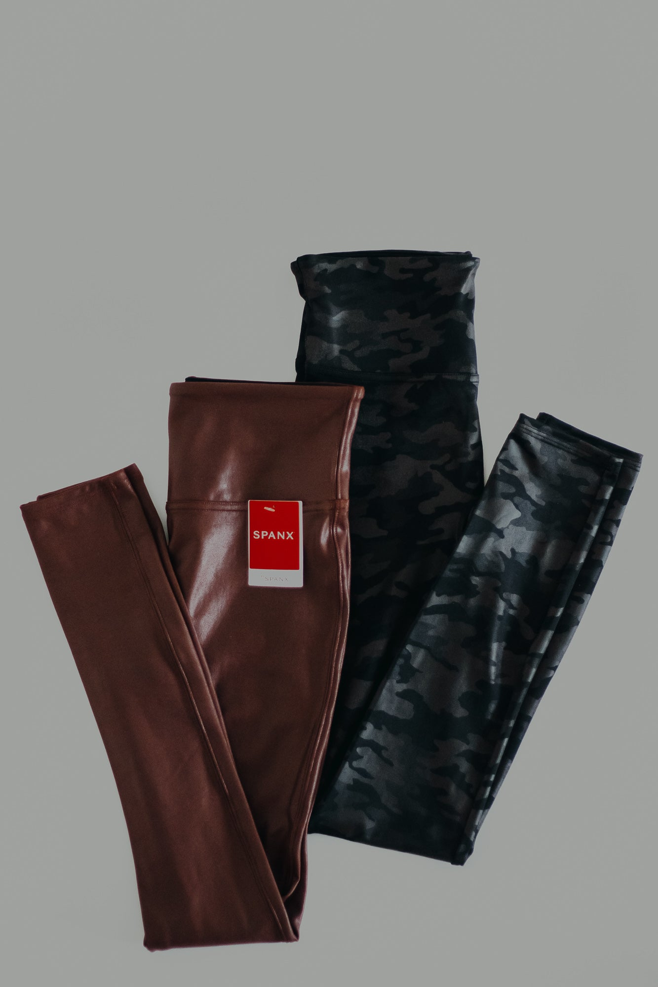 SPANX Faux Leather Leggings *Mahogany