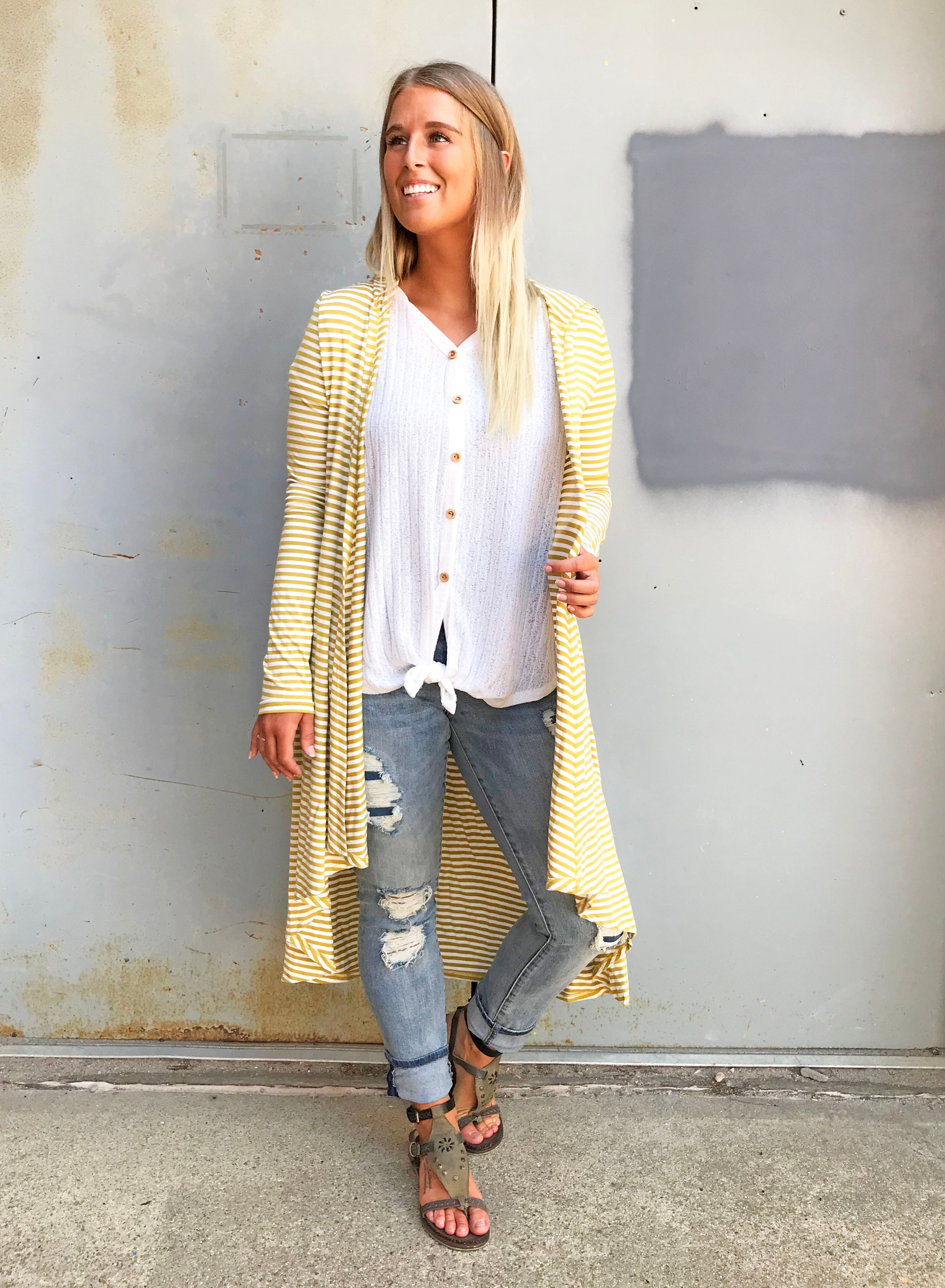 Mercedes Stripe Cardigan