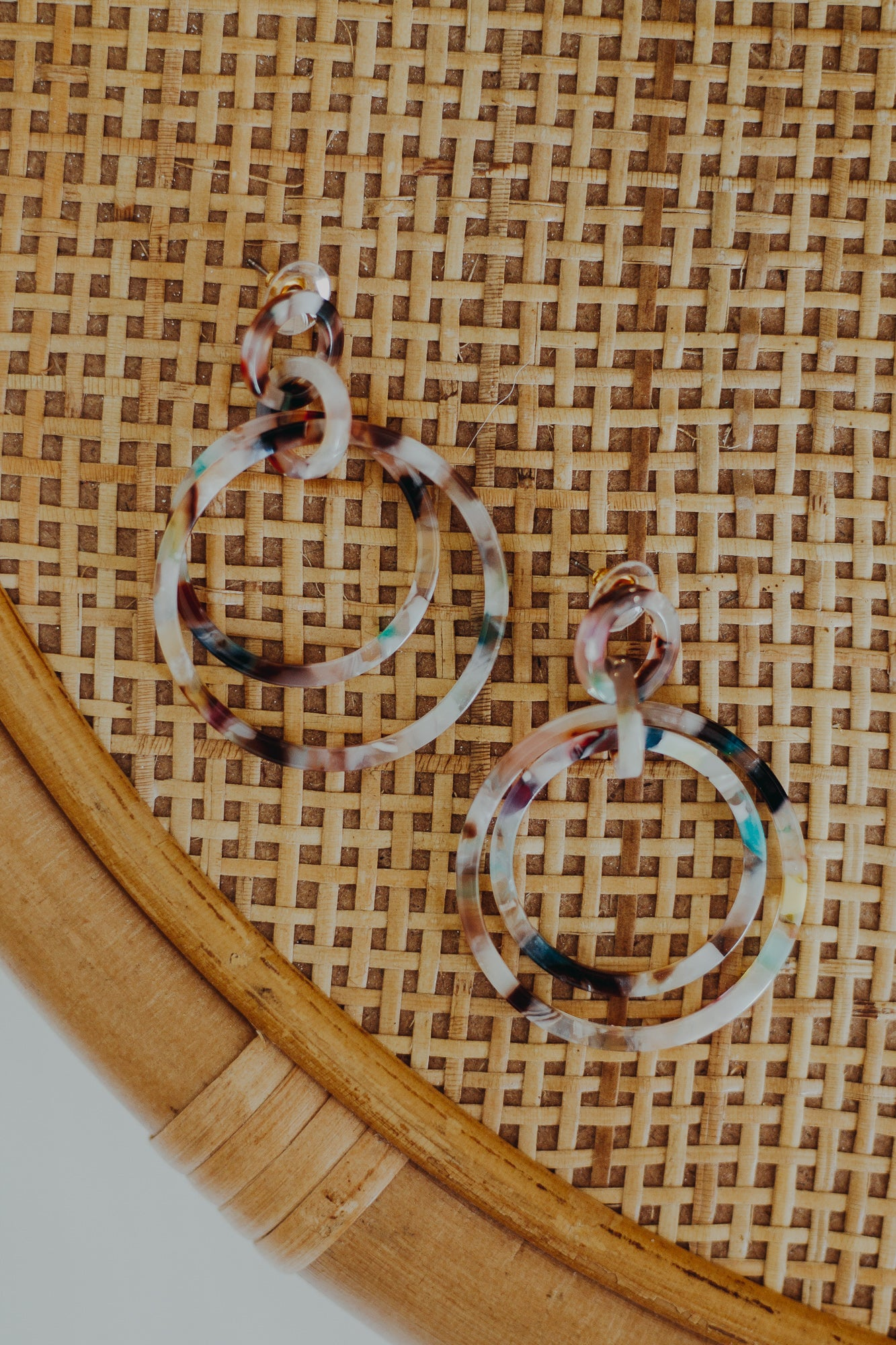 Nakamol Marble Double Hoop Earrings