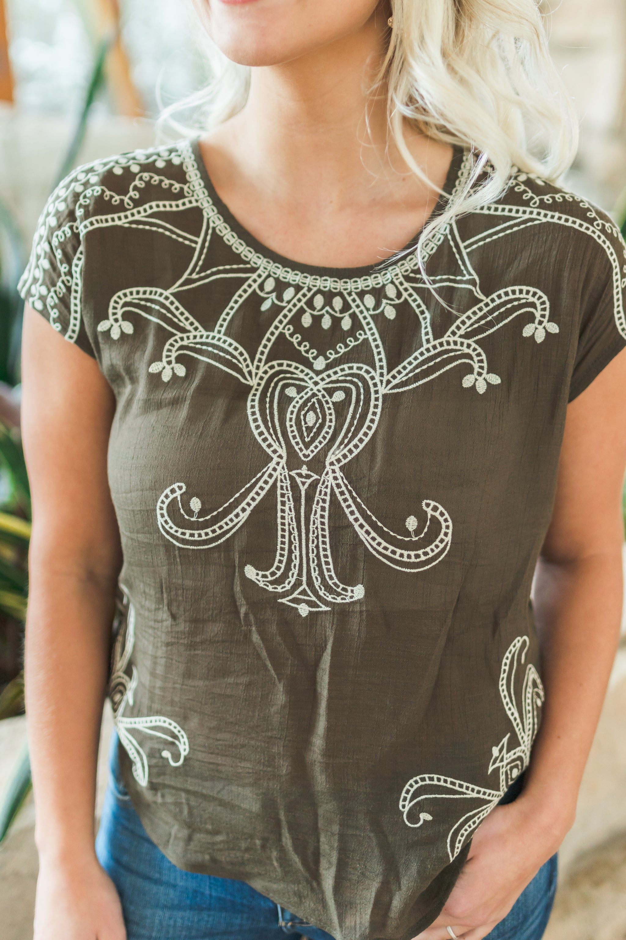Kailey Embroidered Top