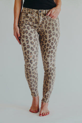 Dex Autumn Brown Mid Rise Pant