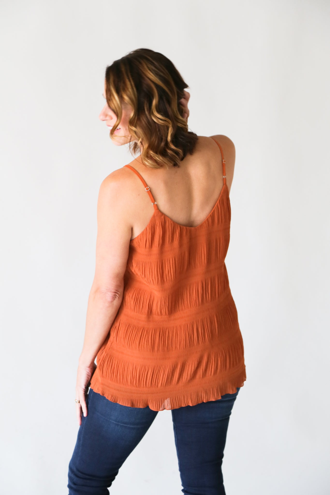 Pleated Red Clay Top