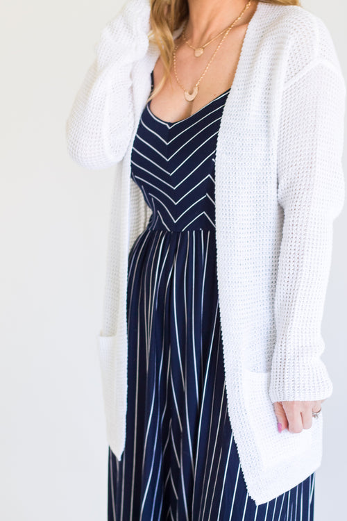 Mildred White Cardigan