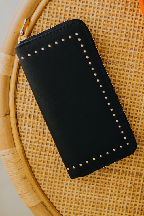 Willow Studded Wallet *Black