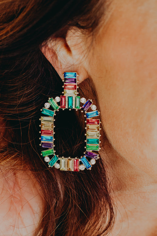 Poppy Colorful Metal Earring
