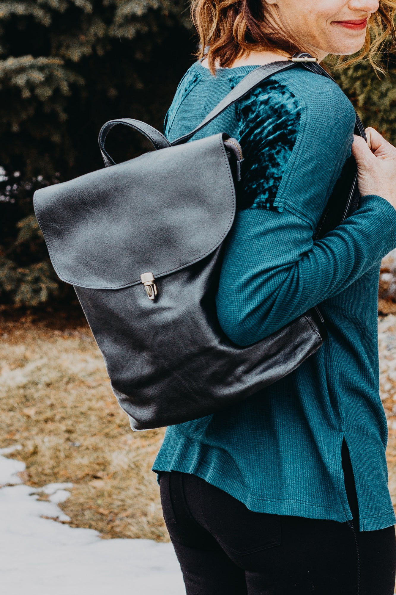 Metallic Hematite Colette Backpack