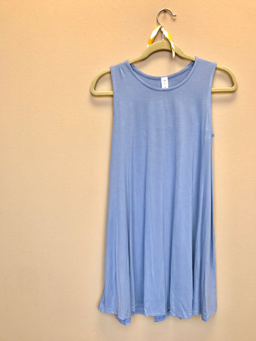 Light Denim Sleeveless Dress