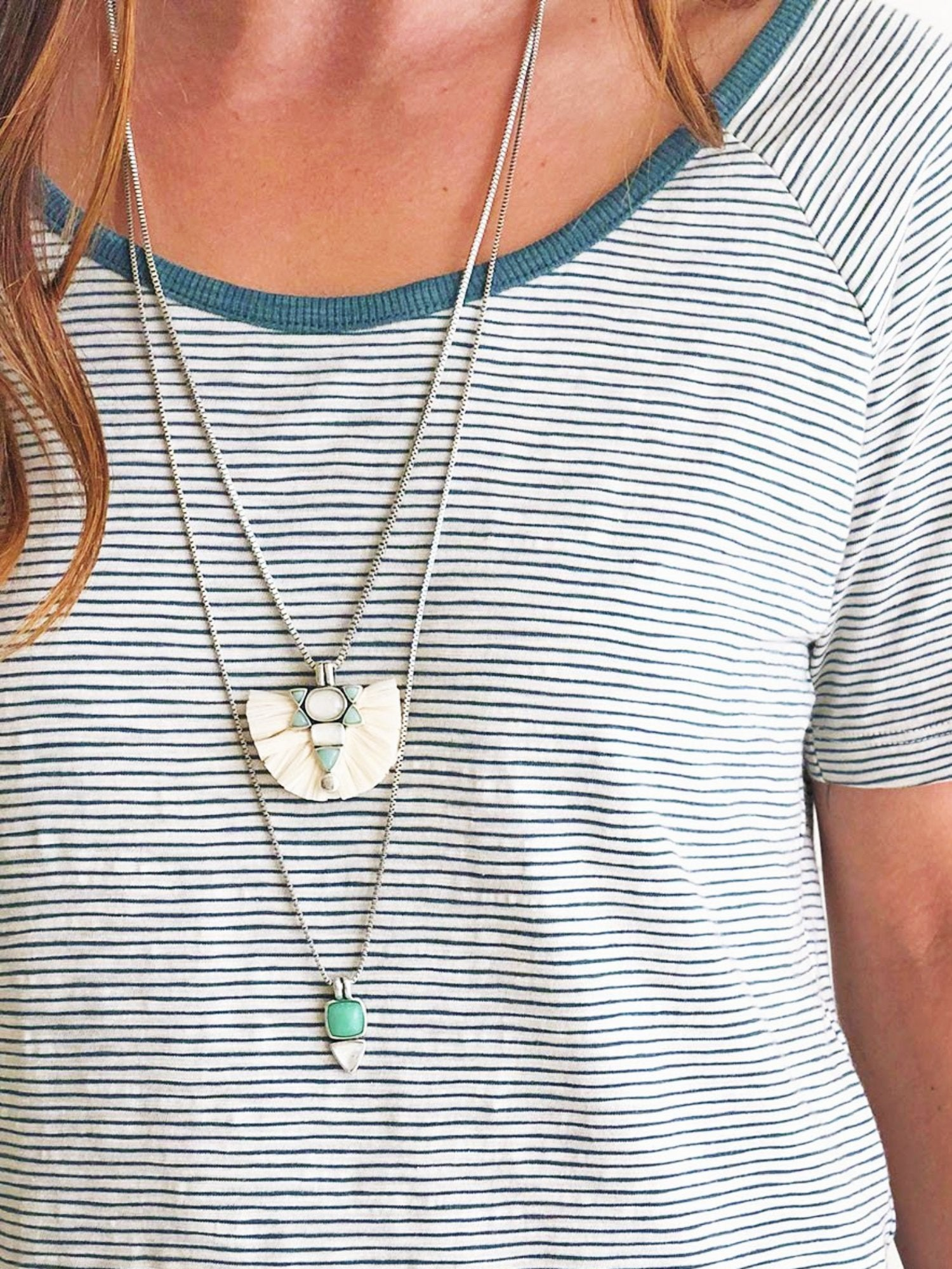 Lucky Brand Raffia Layer Necklace