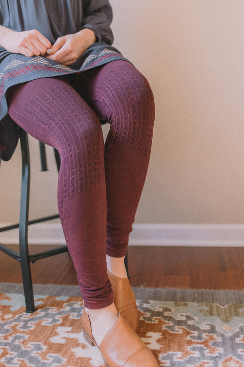Vintage Knee Shirring Legging