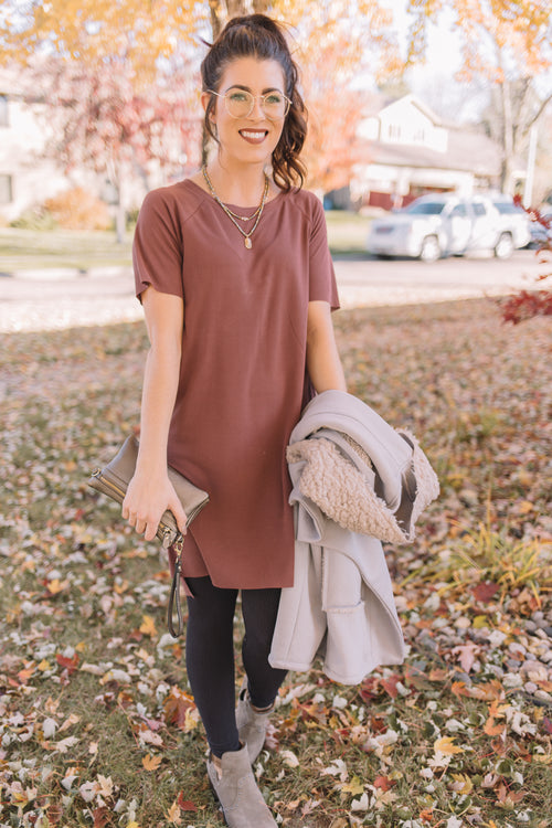 Hampshire T-Shirt Dress *Marsala