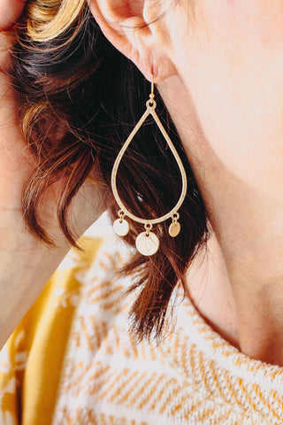 Yellow Bead Dangle Earring