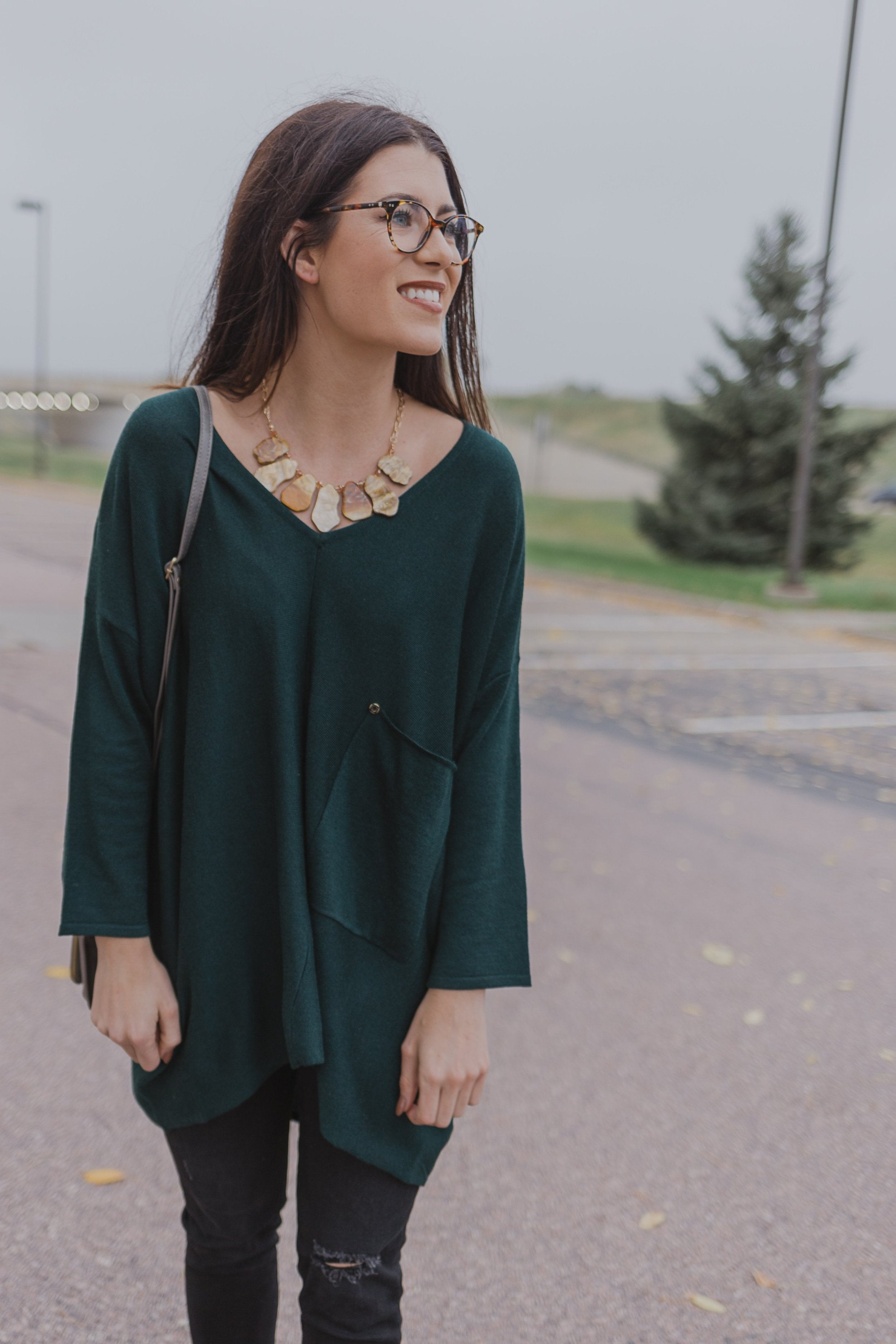 Forest Green Raven Top