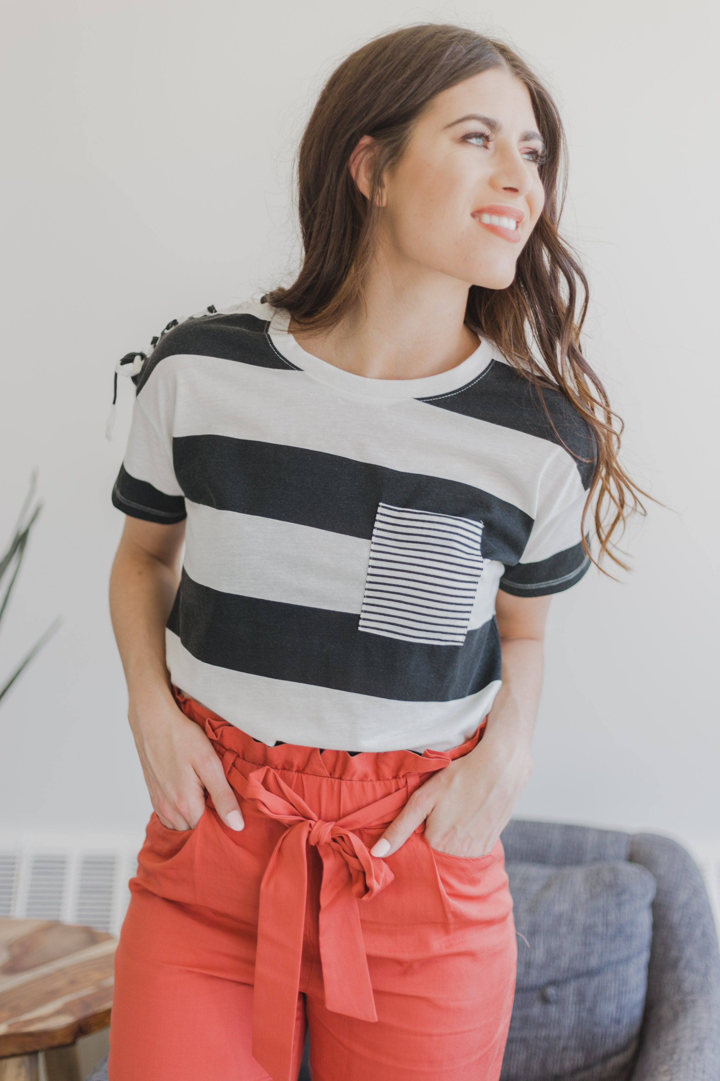 Nyah Stripe Top