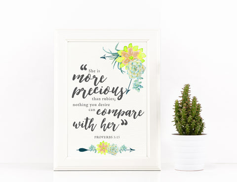 *AMaVo Exclusive* Proverbs 3:15 Printable