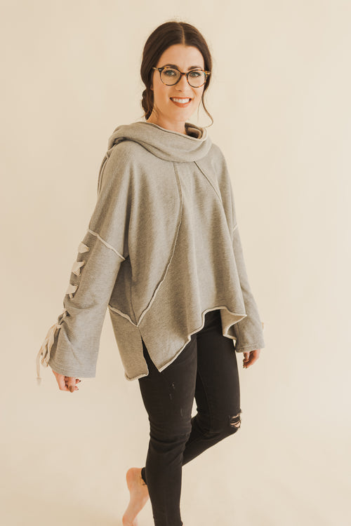 Heather Grey Dolman Hoodie