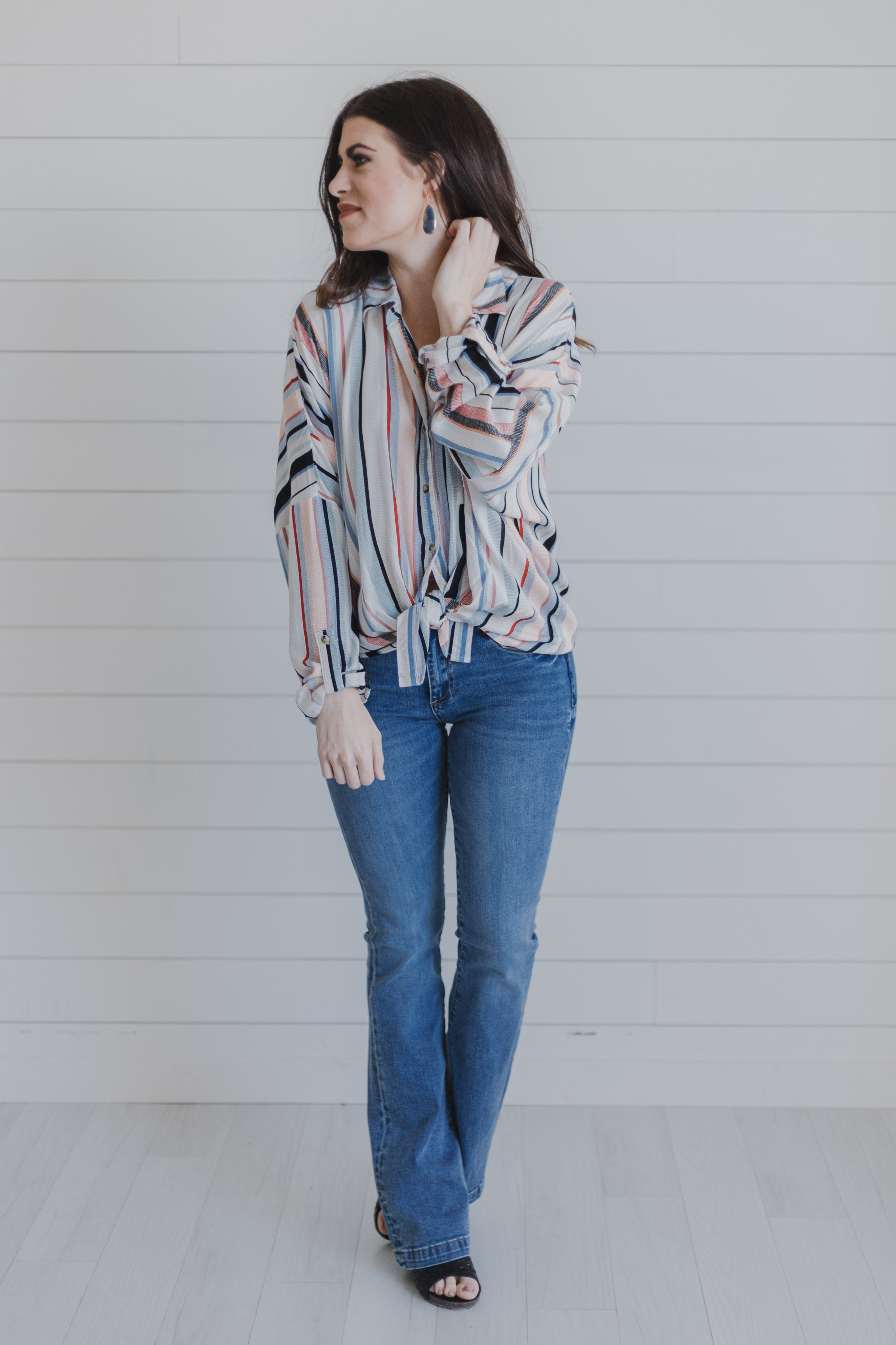 KUT Stella Relaxed Flare Denim