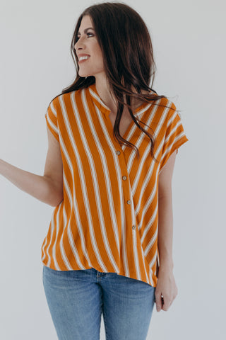 Levi Mustard Stripe Top
