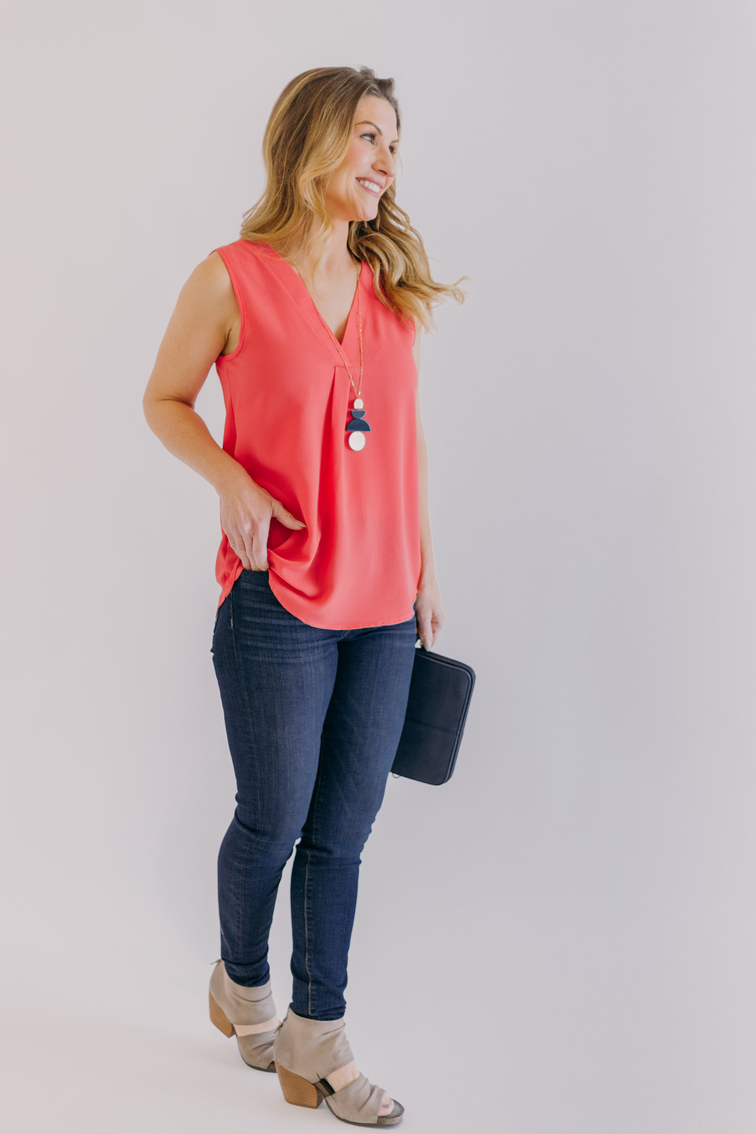 Lucy Light Coral Top