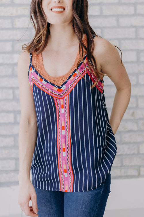 Caspian Embroidered Tank