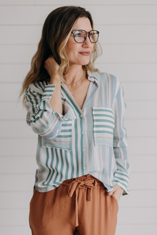 Lucia Stripe Blouse