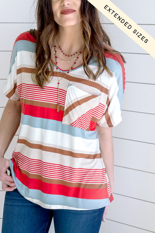 Ellis Stripe Tank Top *Aqua