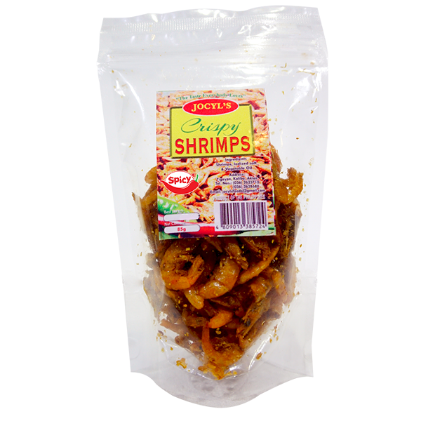 Jocyl's Crispy Shrimps 85 grams (Spicy Flavor)