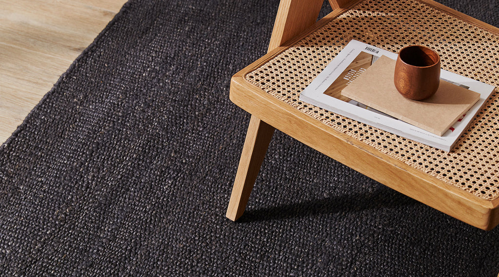 Cadiz rug in Natural by Weave. Jute rug. Natural fibre. Interior styling with rugs
