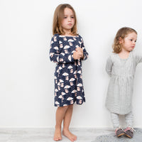 Raining Koalas Stretchy Organic Cotton Dress - Moon Jelly