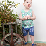 moon jelly organic cotton shorts blue