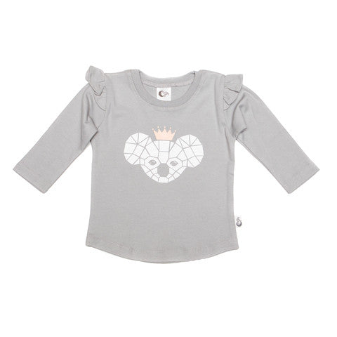 Koala Queen Stretchy Organic Cotton T-shirt - Moon Jelly