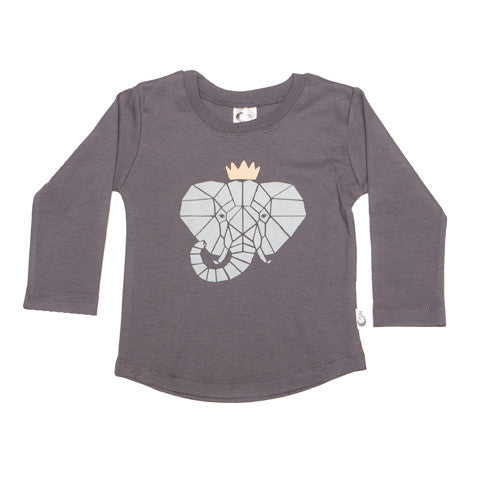 Elephant Crown Organic Cotton T-shirt - Moon Jelly