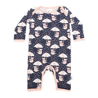 Raining Koala Stretchy Organic Cotton Romper - Moon Jelly