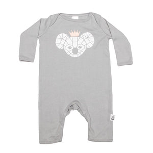 Koala Crown Stretchy Organic Cotton Romper - Moon Jelly