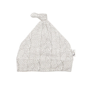 Cable Knit Print Stretchy Organic Cotton Baby Hat - Moon Jelly