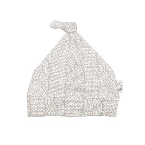 Cable Knit Knotted Baby Hat