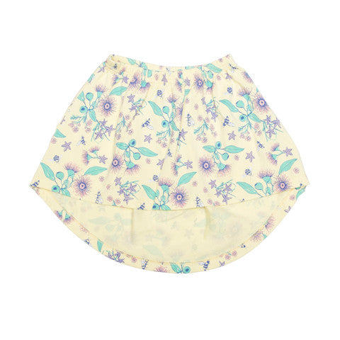 Floral Bee Stretchy Organic Cotton Skirt - Moon Jelly