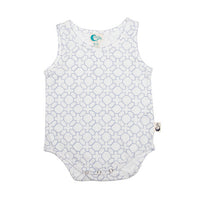 Geo Stretchy Organic Cotton Bodysuit - Moon Jelly