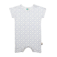 Geo Stretchy Organic Cotton Romper - Moon Jelly