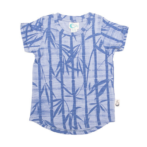 Bamboo Print Organic Cotton T-Shirt - Moon Jelly