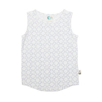 Geo Stretchy Organic Cotton Tank - Moon Jelly