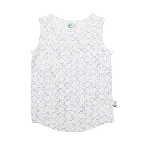 Organic cotton tank geo monotone Moon Jelly